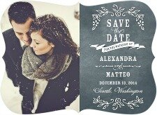 Rustic Chalkboard save the date wedding paper divas_Small