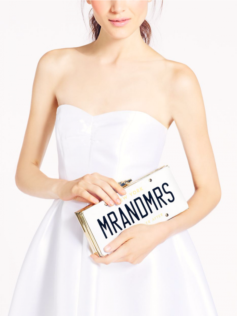 Wedding Belle License Plate Clutch by Kate Spade